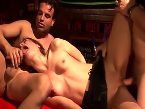 Amazing threesome session starring lovely Amber Rayne