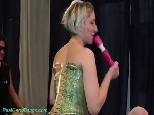 german chicks in wild gangbang party