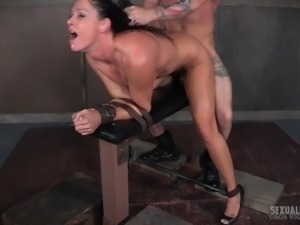It's another grueling day for submissive MILF India in the sex dungeon, with...
