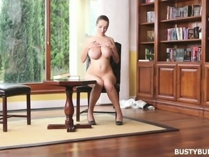 Busty Buffy loves reading books and masturbating and the girl is so fine