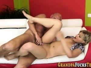 Teen takes creamy facial