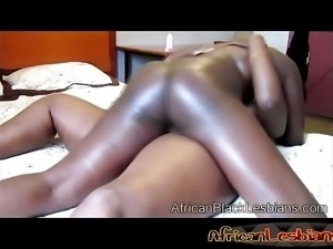 Two black mama playing chubby wet pussy