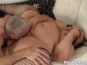 SSBBW gets fucked in sexy stockings