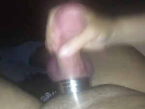Girlfriend Handjob at the Porn Cinema