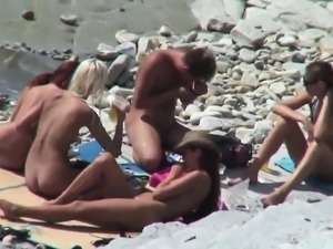 Voyeuring Happy Nude Beach scenes