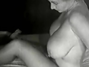 Mature Blonde with Huge Big Boobs (1950s Vintage)