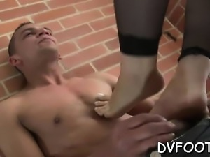Playgirl gets her foot sucked by a dude with a foot fetisj