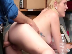 Shoplifters tight pussy receives a hardcore romping