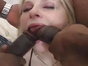 Young Blonde Wants Both Her Holes Filled And Swallows
