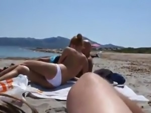Beach blowjob and cum